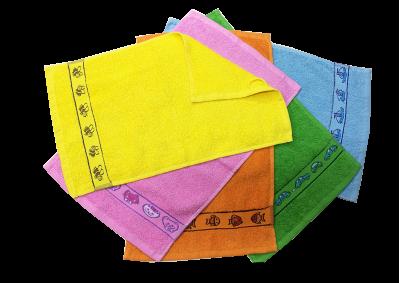 Froté ručník - KIDS zelený  s bordurou 30x50cm
