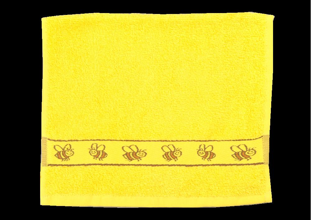 Froté ručník - KIDS žlutý  s bordurou 30x50cm