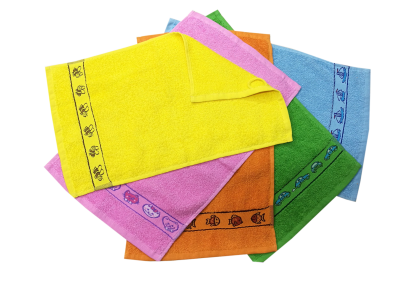 Froté ručník - KIDS modrý  s bordurou 30x50cm