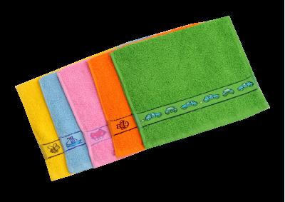 Froté ručník - KIDS růžový  s bordurou 30x50cm