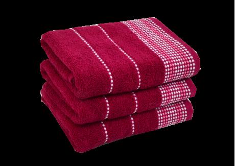 Froté ručník - BARBARA Tmavě červený
