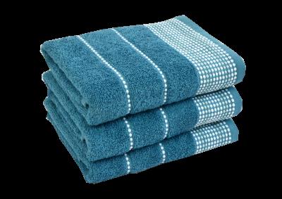 Froté ručník - BARBARA Středně modrý