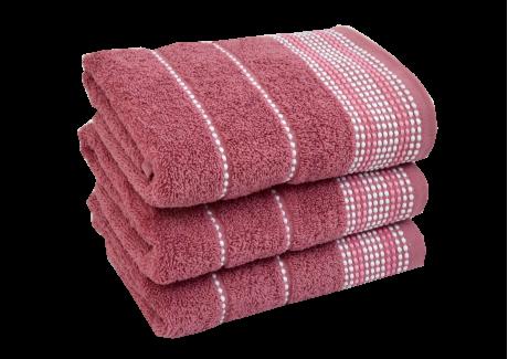 Froté ručník - BARBARA Středně růžový