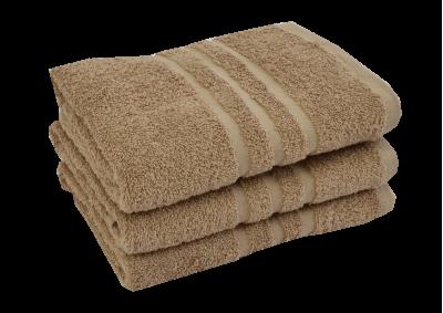 Froté ručník - CLASSIC 50x100cm světle hnědý