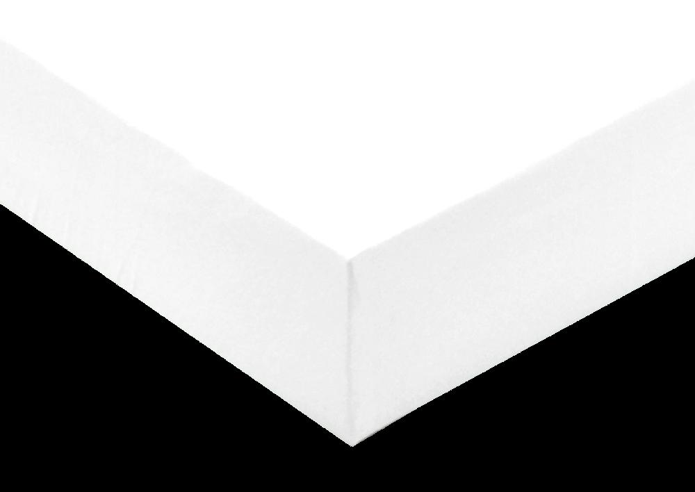 Jersey prostěradlo Bílá