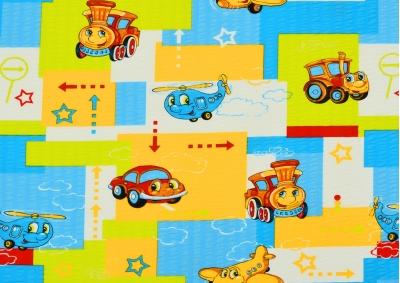 Mašinka a letadla  (dětský krep) metráž