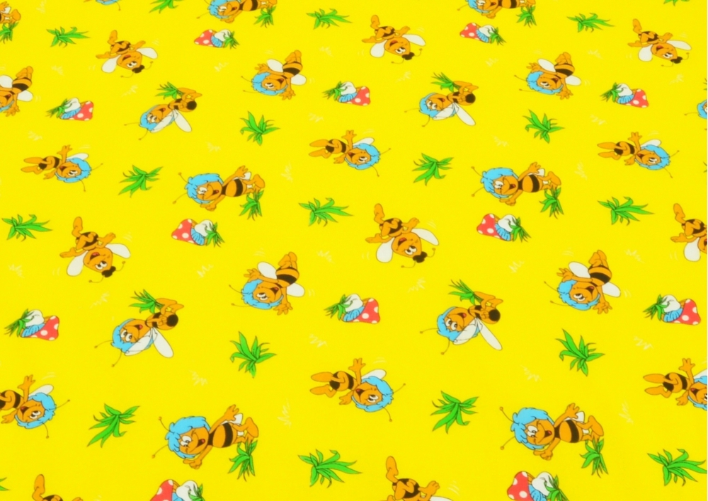 Včelka žlutá (dětská bavlna) metráž