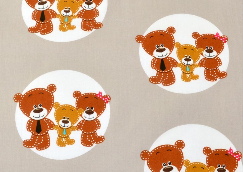 Medvídci v kolečku (dětská bavlna) metráž