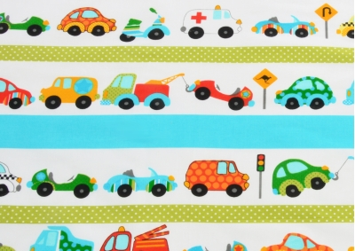 Doprava - auta  (dětská bavlna) metráž