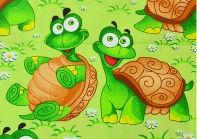 Želvička zelená (dětská bavlna) metráž