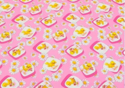 Růžová kuřátka (dětská bavlna) metráž