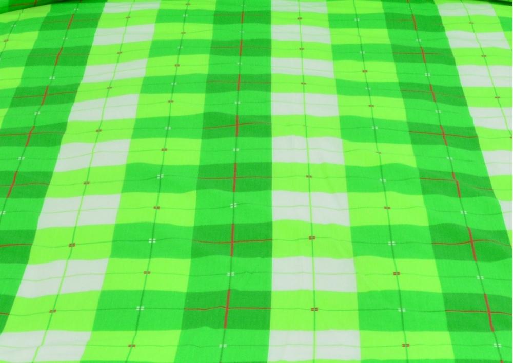 Zelená kostka bavlna metráž II.Jakost