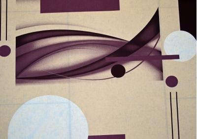 Hnědobílá abstrakce bavlna metráž