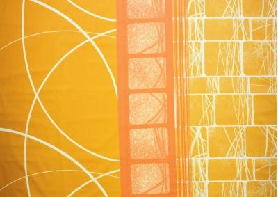 Oranžové snění bavlna  metráž