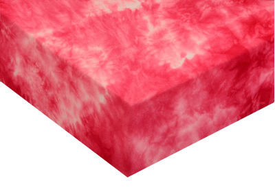 Froté prostěradla batika Červená