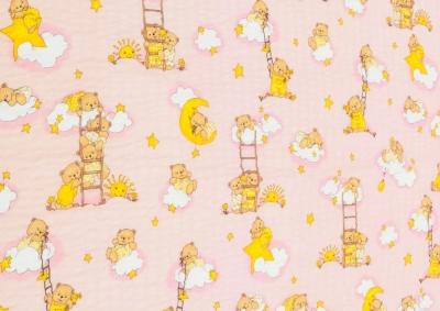 Medvídek na žebříku růžový (dětský krep)