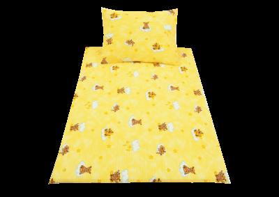 Medvídek na houpačce žlutý (dětský krep)