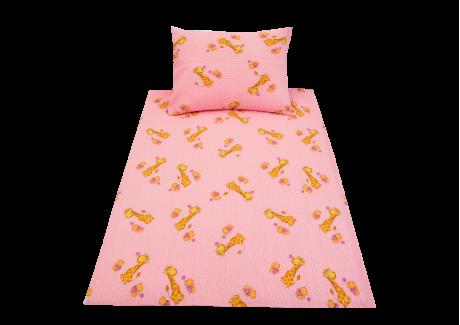Žirafa růžová (dětský krep)