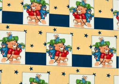 Medvídek v kostce (dětská bavlna)