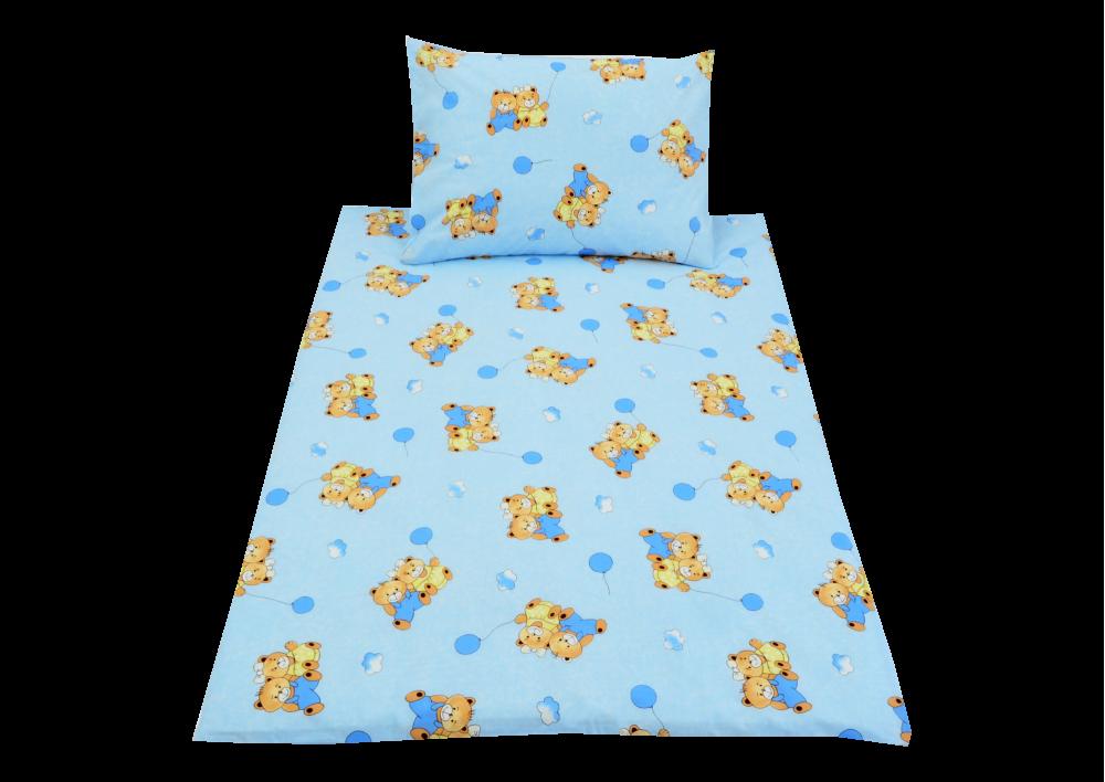 Modrý medvídek s balónkem (dětská bavlna)