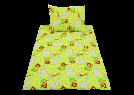 Zelená Zoo (dětská bavlna)