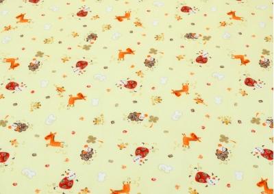 Červené ovečky bavlna (dětská bavlna)