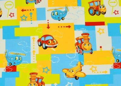 Mašinka a letadla (dětská bavlna)