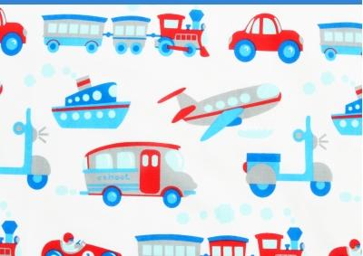 Letadla a lodě (dětská bavlna)