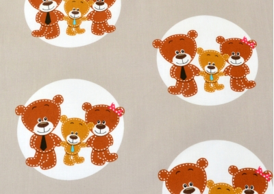 Medvídci v kolečku  (dětská bavlna)