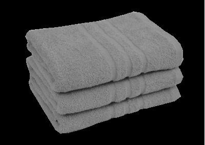 Froté ručník - CLASSIC 50x100cm světle šedivý - stříbrný