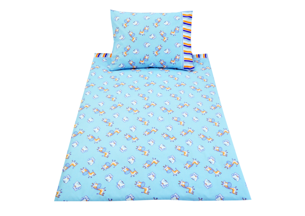 Žirafka s kočičkou + proužek (dětská bavlna)