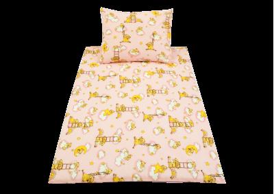 Medvídek na žebříku růžový (dětská bavlna) Partie