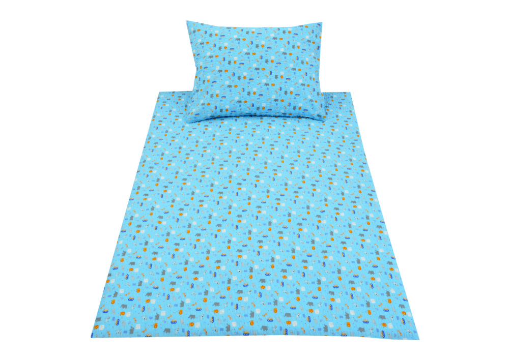 Modré lodičky (dětský krep)
