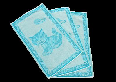 Dětské ručníky Tyrkysová kočička