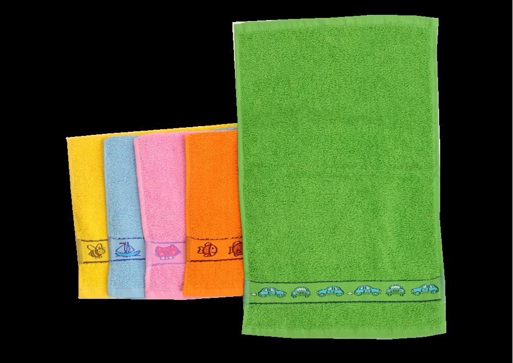 Froté ručník jednobarevný s bordurou 30x50cm