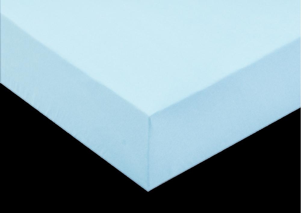 Jersey prostěradlo 185g/m2 Světle modrá 180x200 - partie