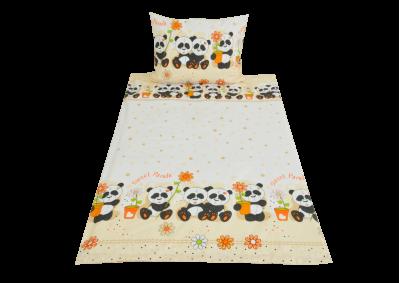 Panda oranžová (dětská bavlna)
