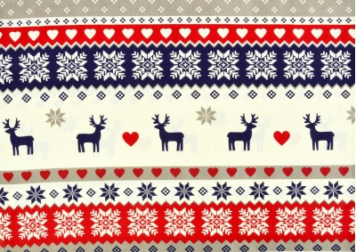 Vánoční sob bavlna  metráž