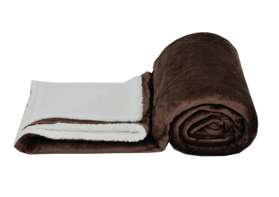 Mikroplyšová deka s beránkem - Tmavě hnědá