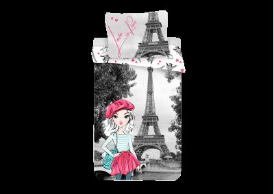 Bavlněné povlečení Paříž Grey