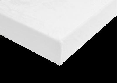 Mikroplyšové prostěradlo bílé 90x200 cm