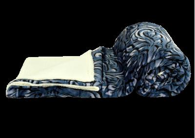 Mikroplyšová deka s beránkem - Design - šedá