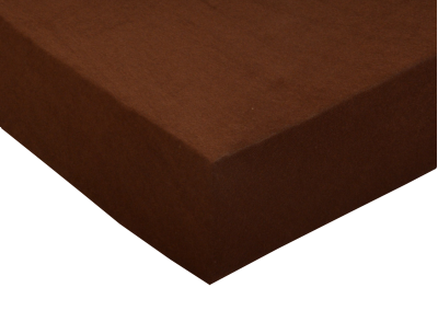 Froté prostěradlo Čokoládové 90x200 - II. jakost