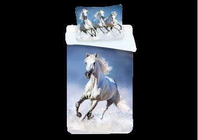 Bavlněné povlečení Horses White 140x200