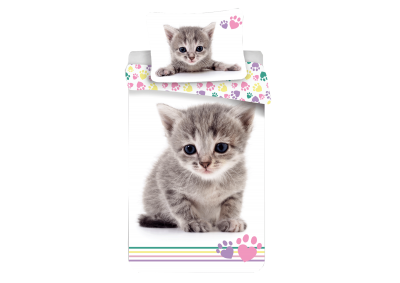 Bavlněné povlečení Kitten Colour