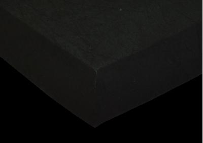 Froté prostěradlo Černá 90x200 - partie