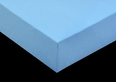 Jersey prostěradlo Světle modrá 200x200 - partie