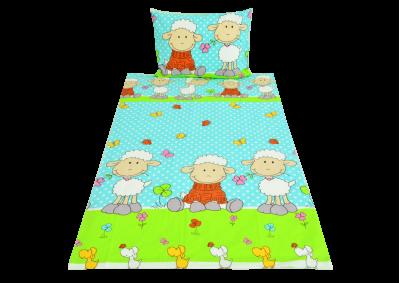 Ovečka modrá ( bavlna dětská) 90x135 II. Jakost