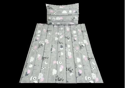 Zvířátka na šedivém - růžové (dětská bavlna)