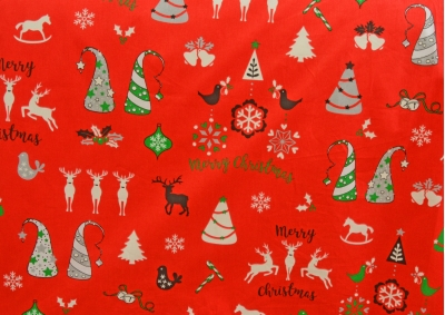 Vánoční motiv 7 bavlna metráž